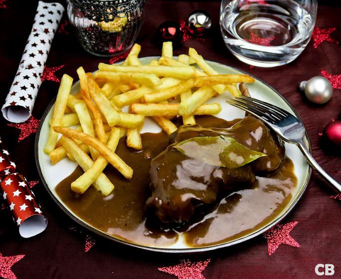 Konijn op Limburgse wijze met frietjes!