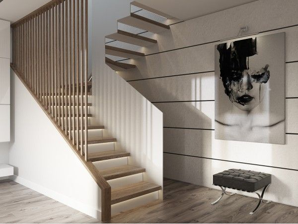 staircase divider interior design