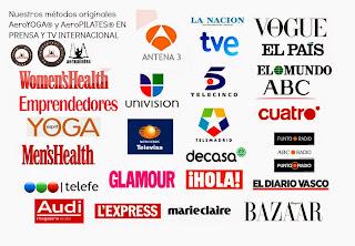 FORMACION PROFESORES YOGA AEREO© AEROYOGA® INTERNATIONAL  EN PRENSA Y TELEVISION