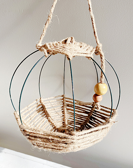 hanging basket with twine