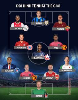 đội hình MU, đội hình tệ nhất năm 2019, Tờ Marca, Phil Jones, Fred, Sanchez