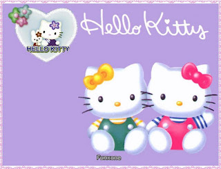 Gambar Hello Kitty Terbaru Ungu Happy New Year Selamat Tahun Baru Wallpaper HD