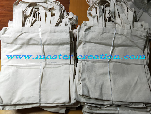 packed cotton bags