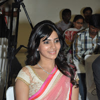 Samantha at kirtilals in pink saree