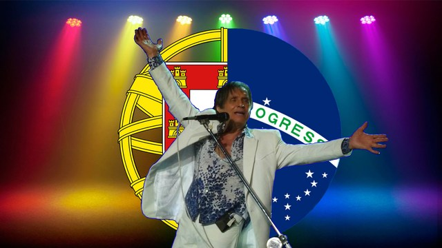 Rei Roberto Carlos na RTP em Portugal