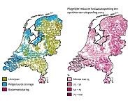Figuur 5. Maatregelen ter vermindering van fosfaatuitspoeling naar oppervlaktewater en bijbehorende reductie. Pag. 12. Waterkwaliteit nu en in de toekomst