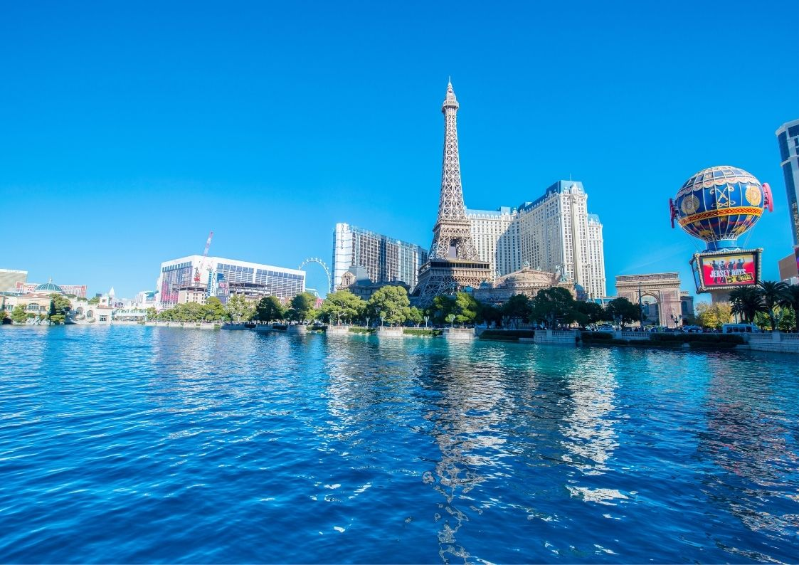 Las Vegas for the Less Adventurous, blue las vegas