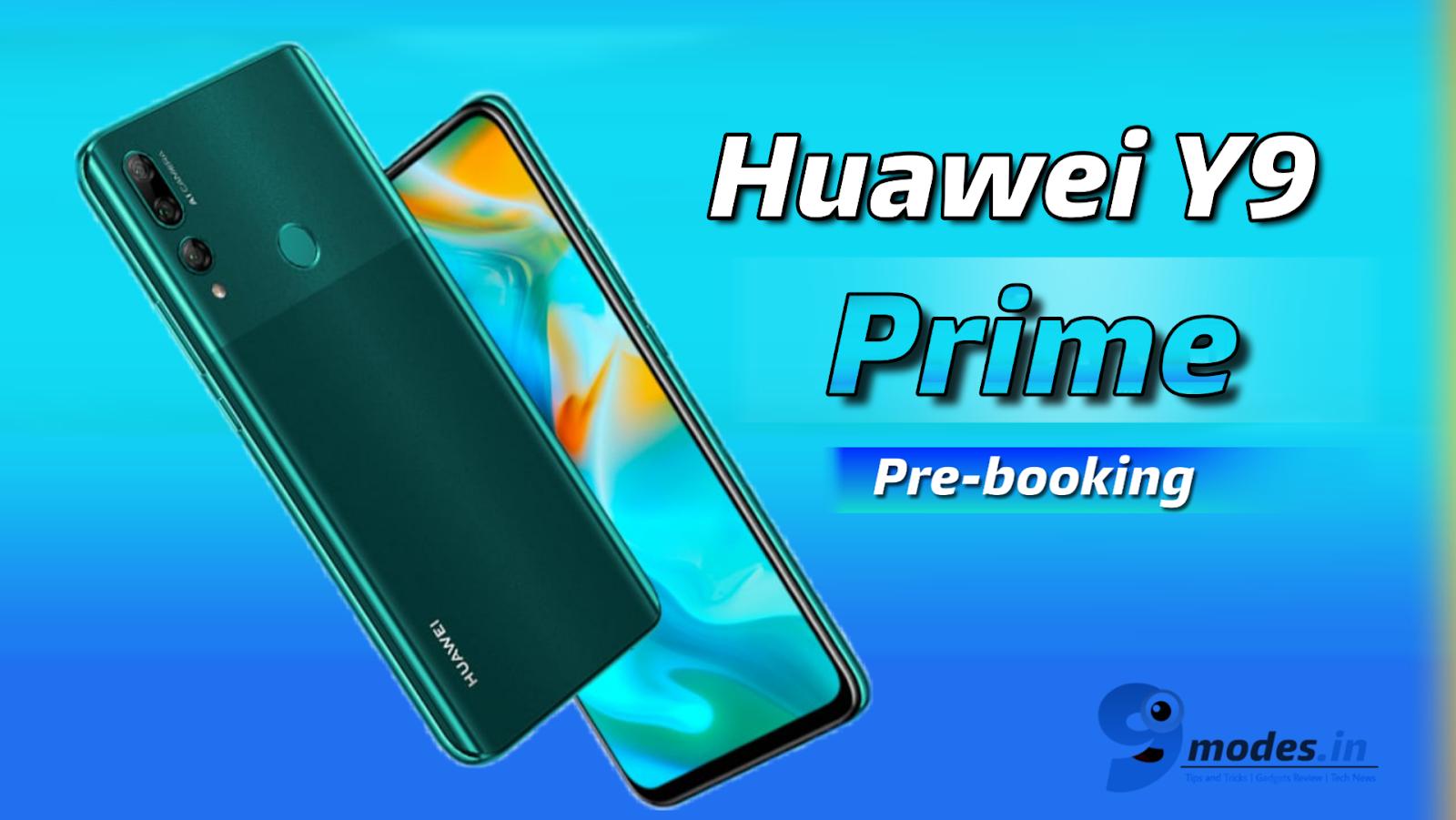 Huawei y9 pre-booking