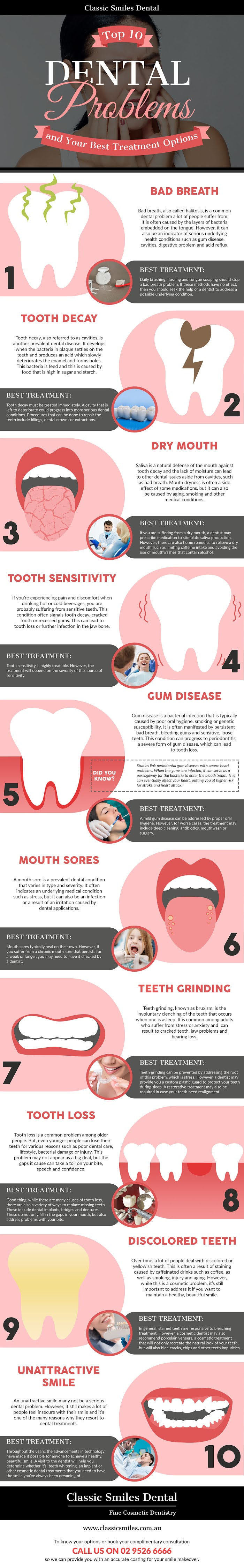 Top 10 Dental Problems and Your Best Treatment Options #infographic