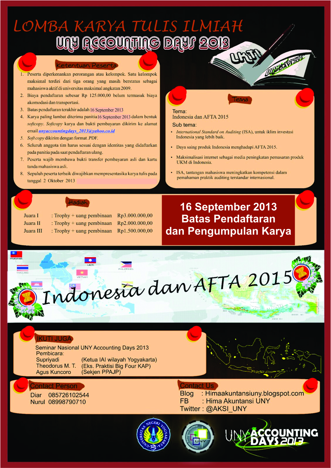 Jadwal Lomba Karya Tulis Ilmiah UNY Accounting Days 2013 Yogyakarta