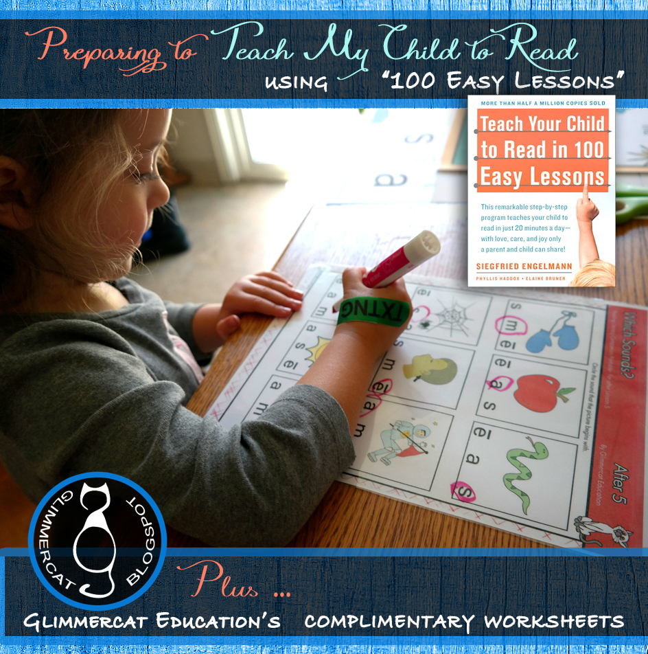 Glimmercat May 2016 – Teach Your Child to Read in 100 Easy Lessons Worksheets