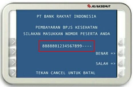 Masukan Nomor Pembayaran