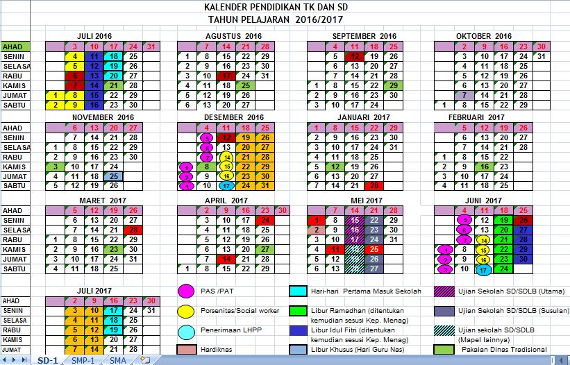 Kalender Pendidikan Yogyakarta Tahun Ajaran 2016/2017 Plus SK - Guru ...