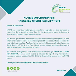 Nirsal new announcement