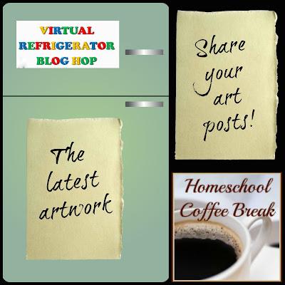 Inktober Part 1 on the Virtual Refrigerator  - share your art posts on our Virtual Refrigerator - an art link-up hosted by Homeschool Coffee Break @ kympossibleblog.blogspot.com
