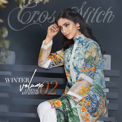 cross stitch winter linen khaddar dresses collection 2017 (7)