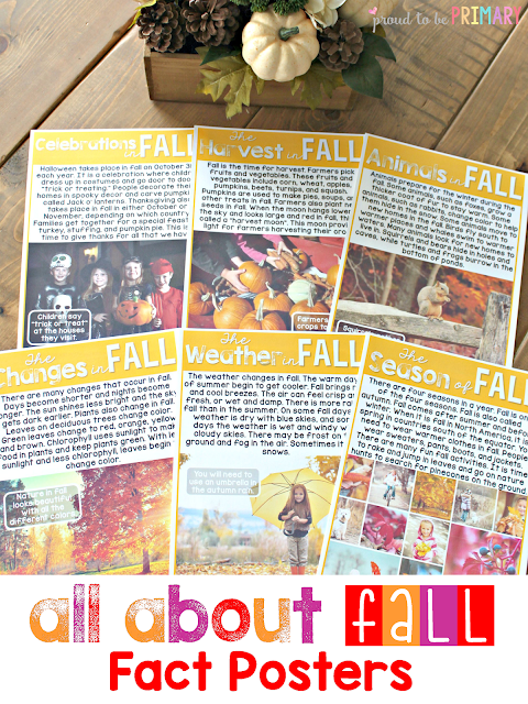 fall lesson plans - fact posters