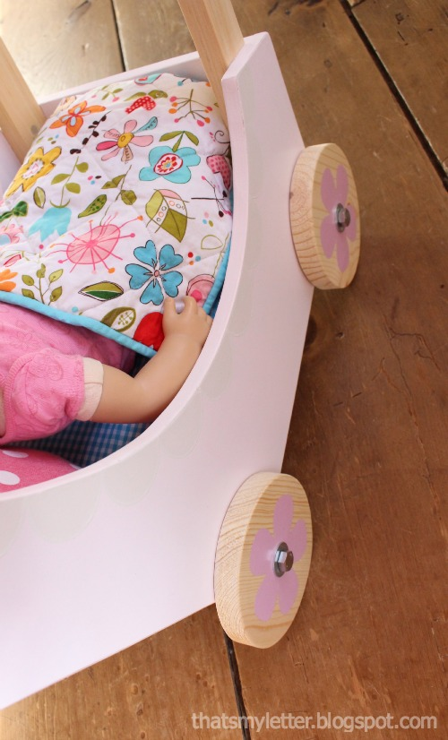doll pram interior side