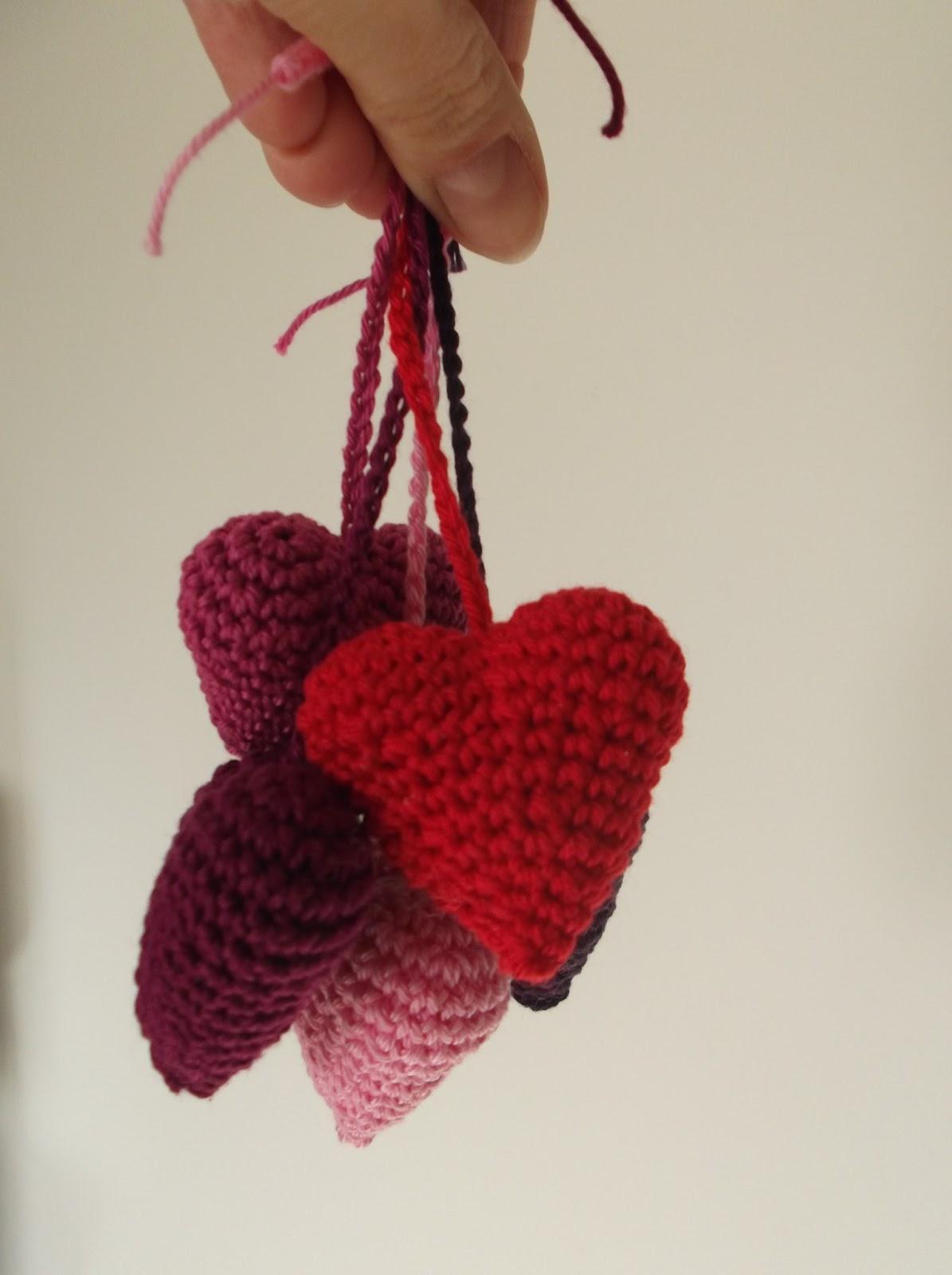 Haakydee Mini 3d Hartjes Haken Voor Valentijn Crocheted Hearts