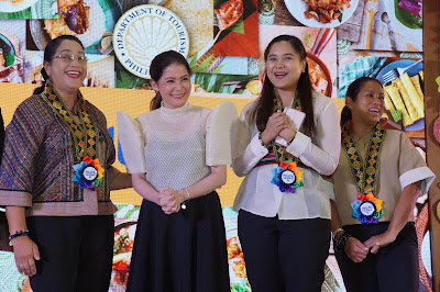 Guest of Honors during the SM Megamall event wearing our rainbow rosette ribbon lei for guest of honors