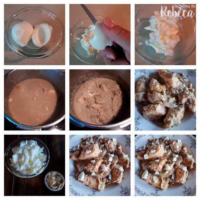 Receta de pollo en pepitoria: la presentación