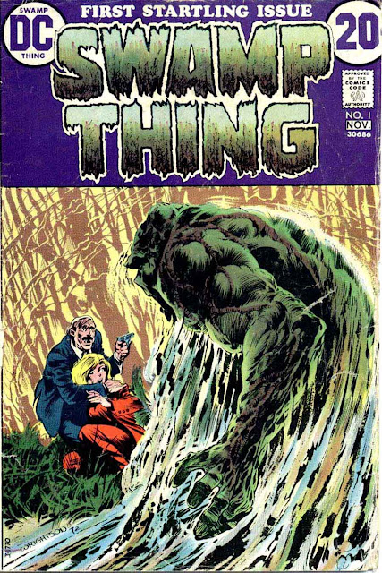 Swamp Thing v1 #1, 1972 bronze age dc comic book cover art by Bernie Wrightson