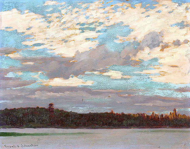a Frank Johnston painting of a big sky