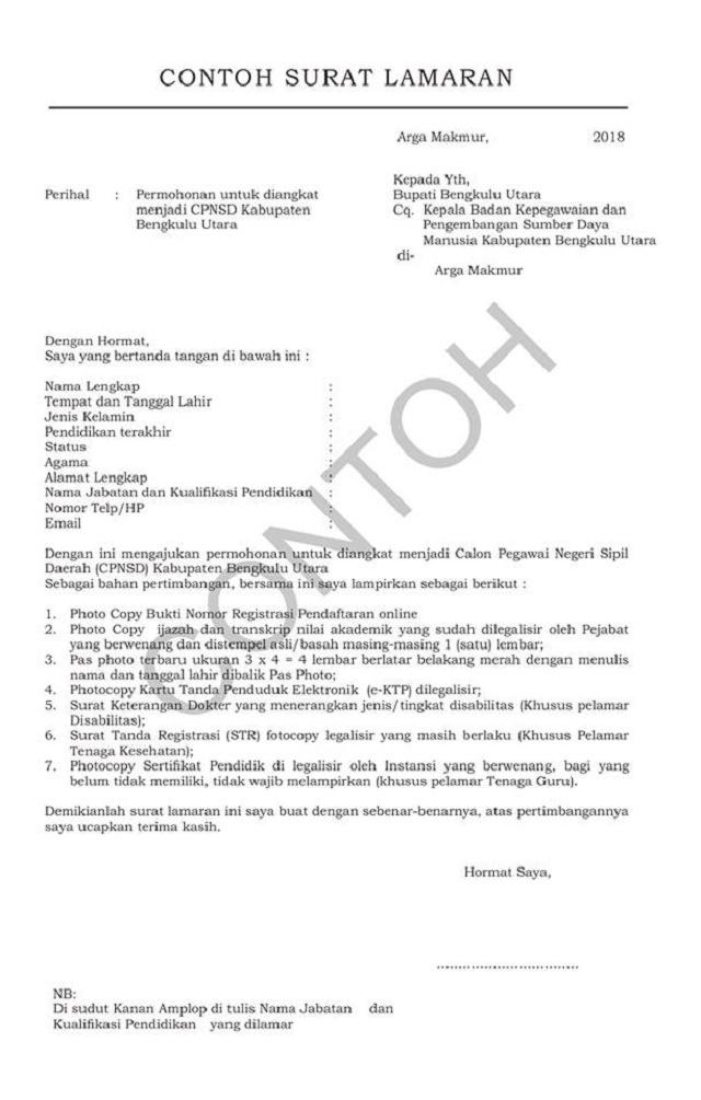 Contoh Surat Lamaran Kerja Update 2018 Tembus Hrd Avil Creator