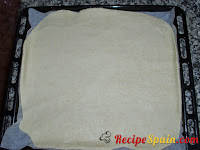 Dough in a oven tray
