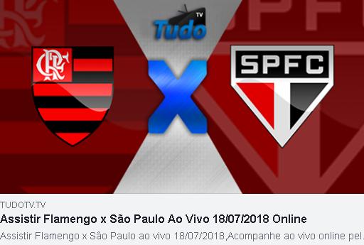 ASSISTIR FLAMENGO X SÃO PAULO AO VIVO 18/07/2018 ONLINE  (TV TUDO)