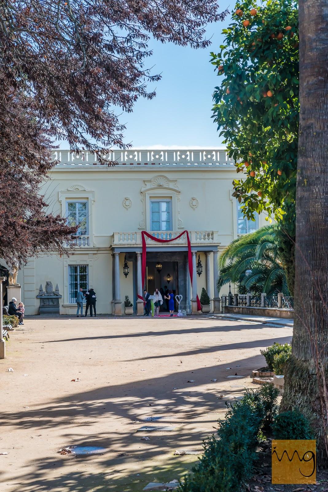 Fotografía de boda. Palacio del Carmen de los Mártires.