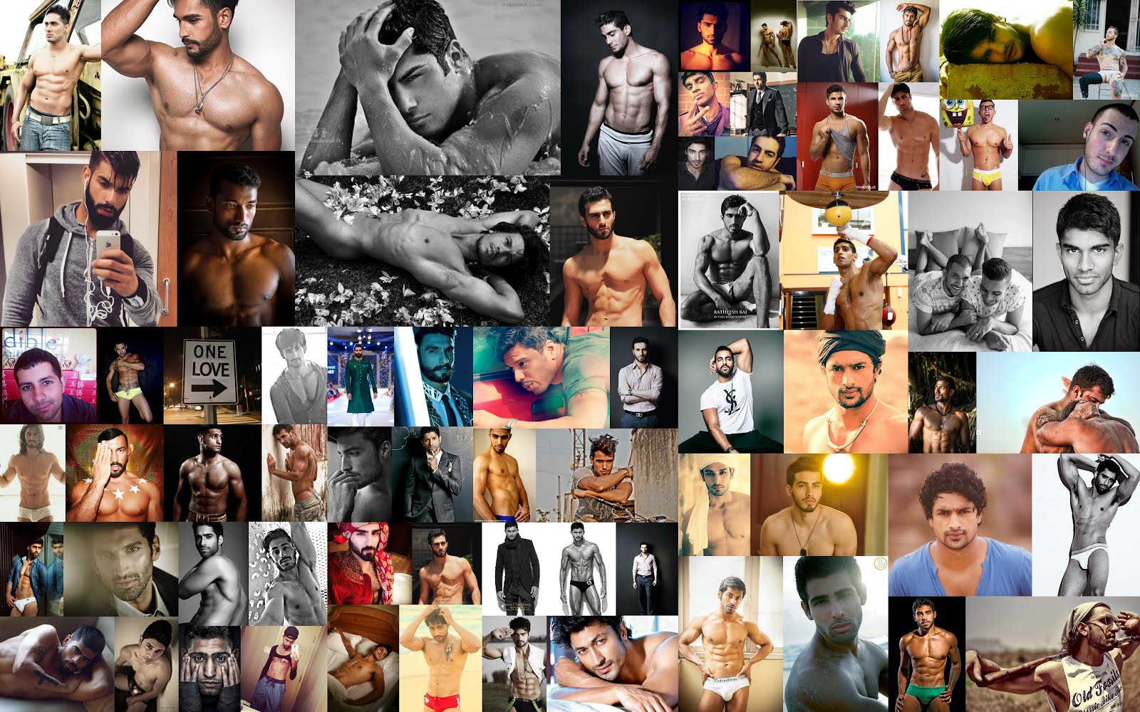 Shirtless South Asian Men