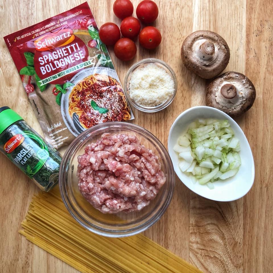 Spaghetti Bolognese recipe using Schwartz