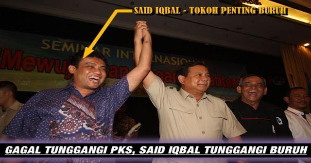 KSPI Said Iqbal PKS Yang Mendukung Prabowo, Benarkah Buruh Ditunggangi Kepentingan Politik ??