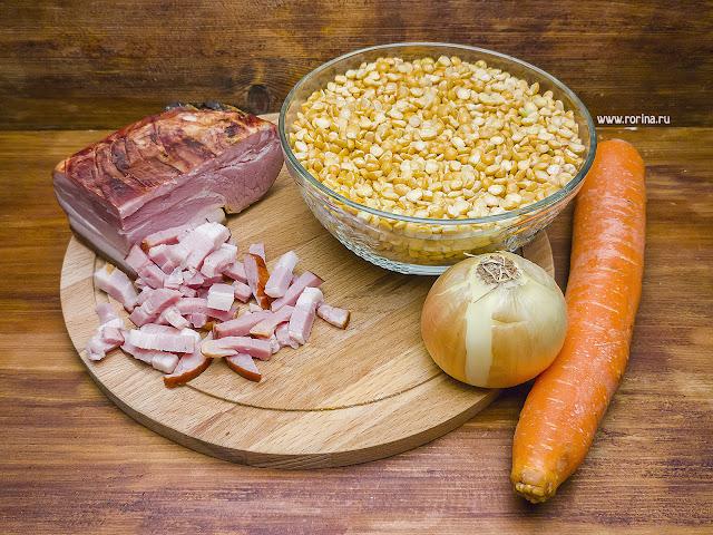 Гороховый суп: калорийность