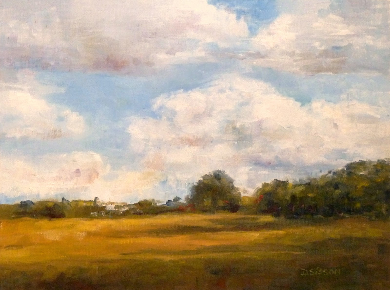 Land And Sky Landscape Oil Paintings