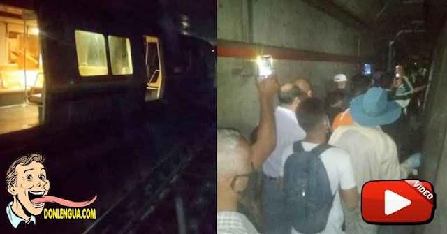 TERROR | Se descarriló el Metro de Caracas y los usuarios no tuvieron ninguna ayuda