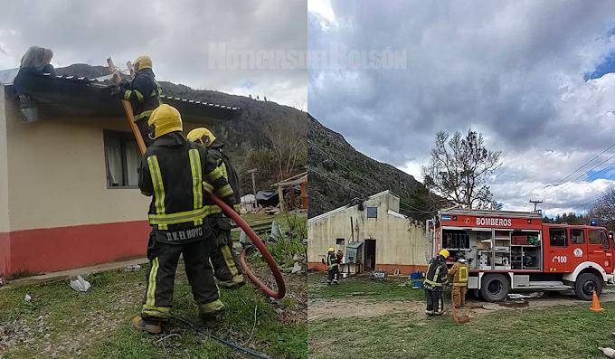 El Hoyo: incendio estructural en El Desemboque