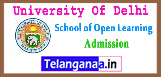 Delhi University of  School of Open Learning B.Com BA Admission Application Form 2018-19