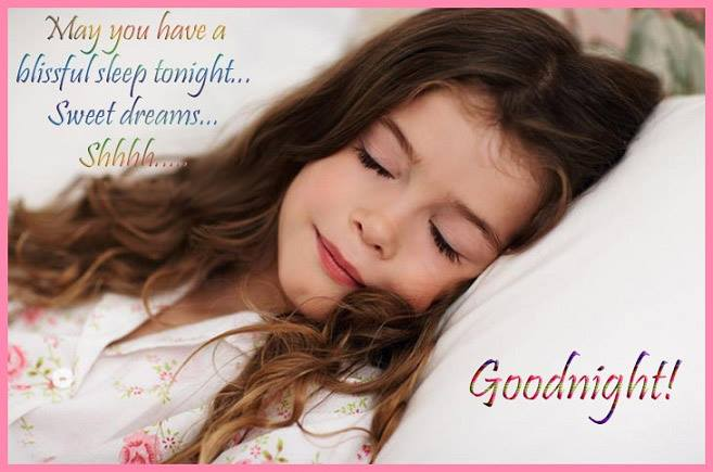 Good Night Wishes Baby Girl Photo