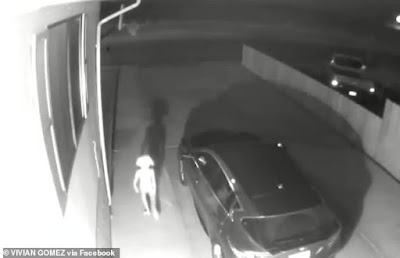 Video showing bizarre figure walking down a driveway sets social media abuzz