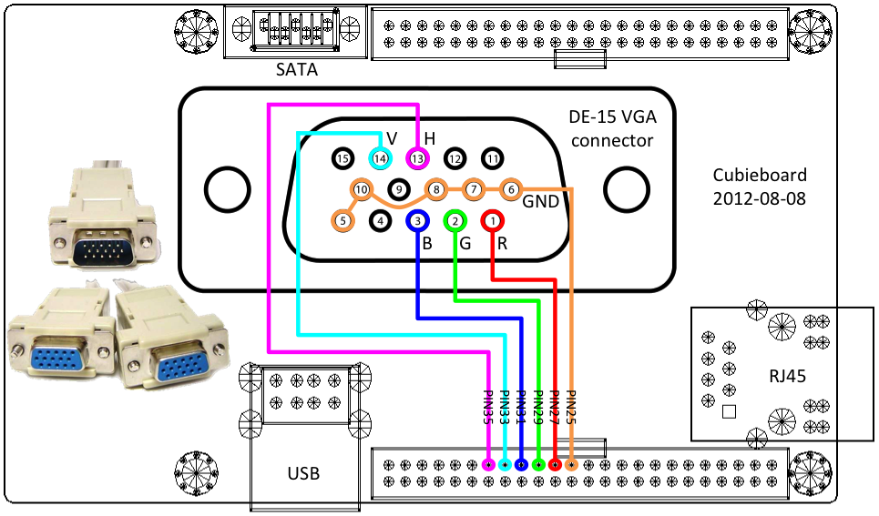 [SCHEMATICS_4US]  VGA To AV Cable And VGA To HDMI Converter | Vga To Av Cable Circuit Diagram |  | Soma Electronics