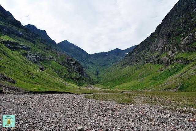 Lost Valley en Glen Coe, Escocia