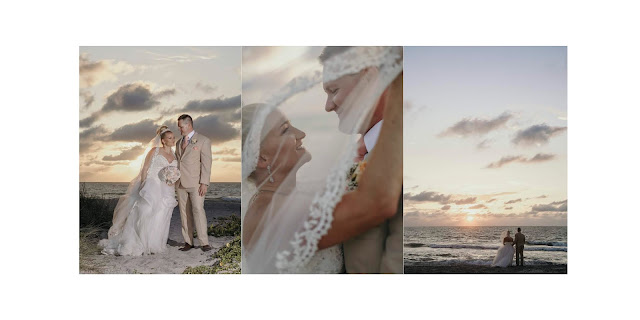 Sunset pictures on captiva island at a beach wedding