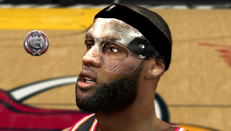 NBA 2K14 LeBron James Mask Mod
