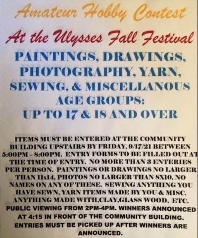 9-17 Enter Ulysses Hobby Conrest by Friday