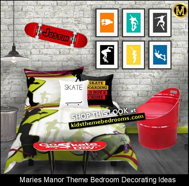 urban city themed bedroom skateboarding bedrooms skater rooms urban style
