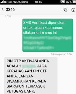 cara daftar & aktivasi bni mobile banking - sms otp