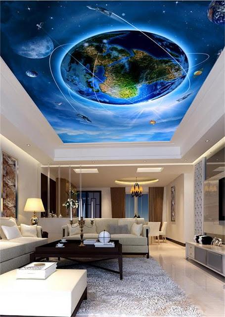 Modern False ceiling 3d design ideas earth
