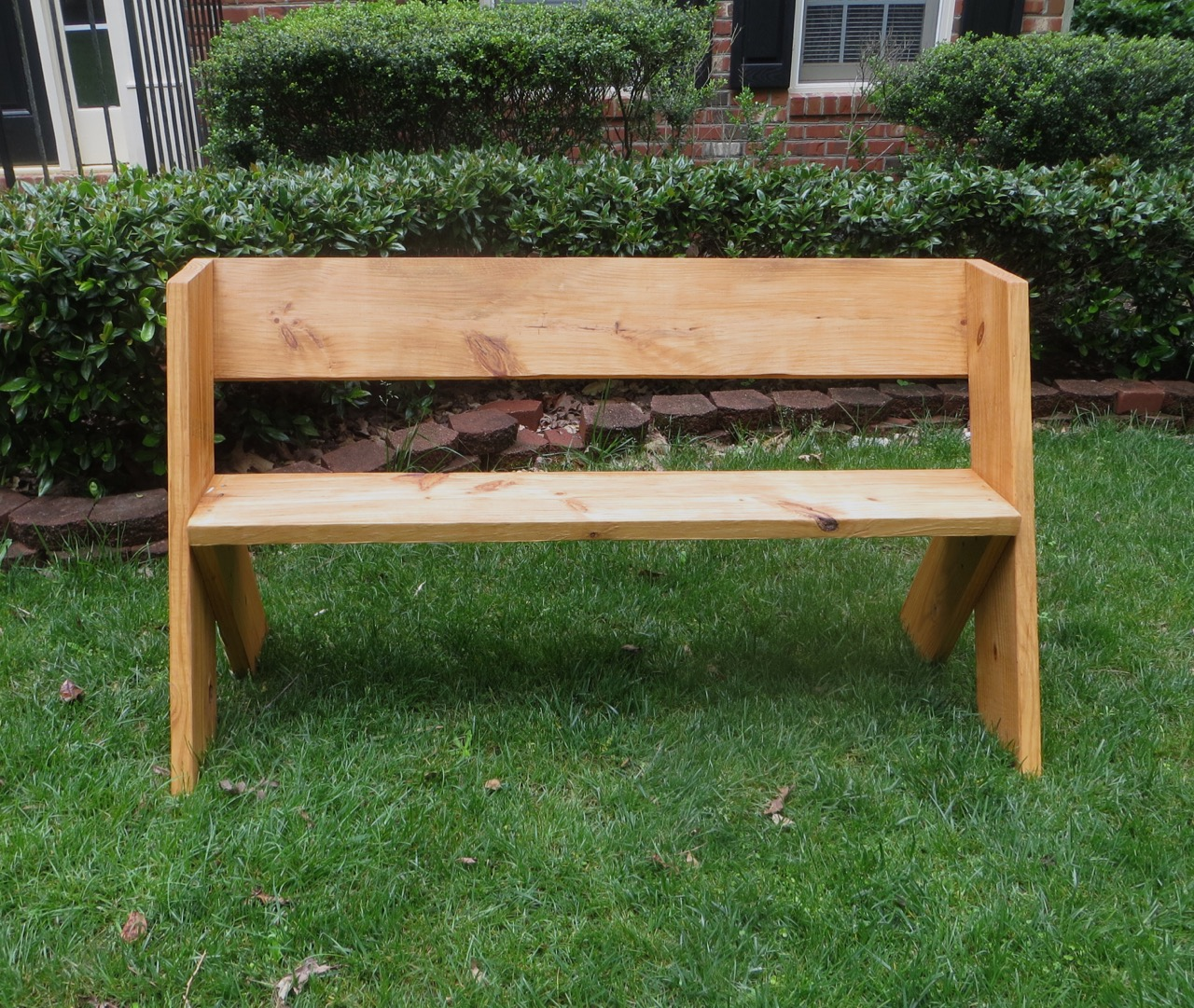 Wooden Park Benches ~ Diy tutorial simple outdoor wood bench the project